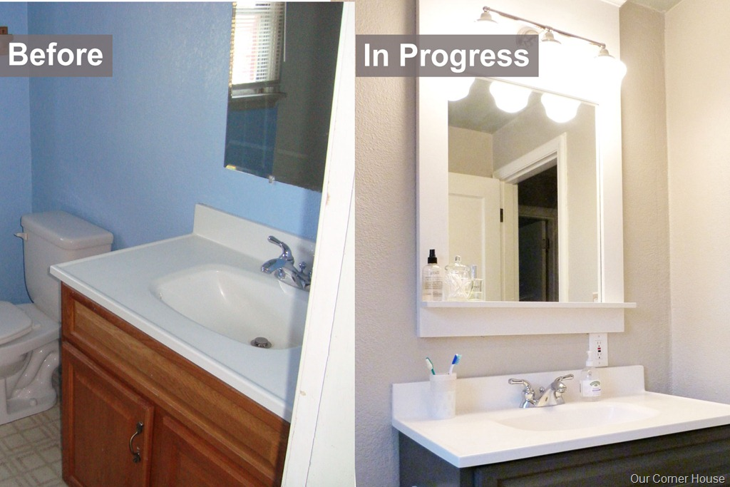 Inexpensive bathroom refresh our corner house for Bathroom cheap ideas